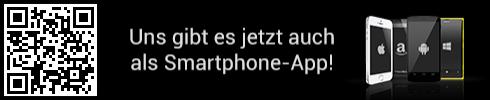 uns gibt es jetzt auch als Smartphone App