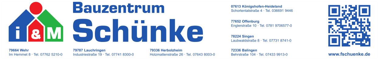 Willkommen! | F. Schünke Bauzentrum